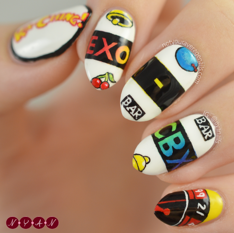 KA-CHING! nail art by Becca (nyanails) - Nailpolis: Museum of Nail Art