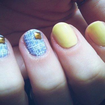 Denim and Lemonaide nail art by Desere Olson
