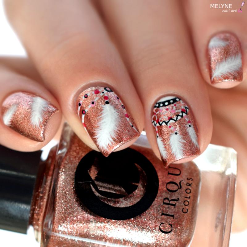 Dreamcatcher Nail Art nail art by melyne nailart