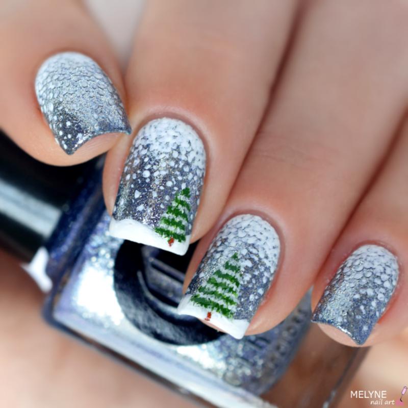 Winter nail art nail art by melyne nailart
