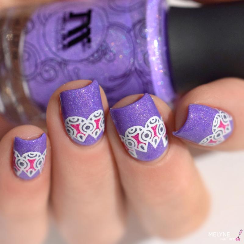 Reverse Stamping  nail art by melyne nailart