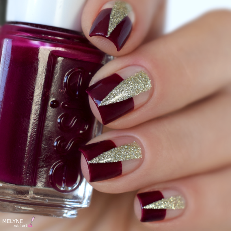 Chic negative space nail art by melyne nailart