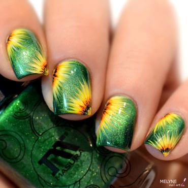 Sunflower nail art  nail art by melyne nailart