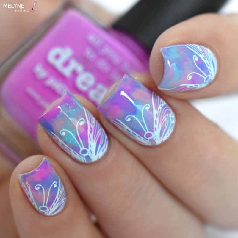 Pastel smooshy nail art nail art by melyne nailart