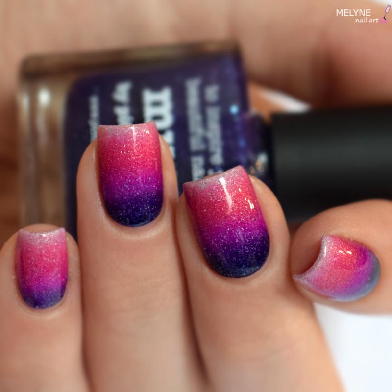 Gradient nails Picture Polish nail art by melyne nailart