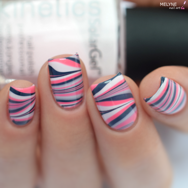 Watermarble Kinetics nail art by melyne nailart