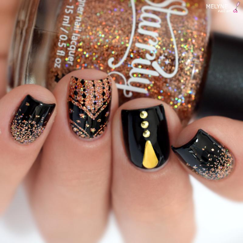 Holo chic nail art nail art by melyne nailart