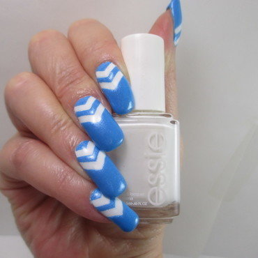 Simple Chevrons nail art by NinaB