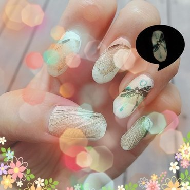 dragonfly wings (watercolor series) nail art by Idreaminpolish