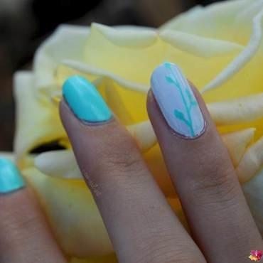 Accent nail nail art by i-am-nail-art