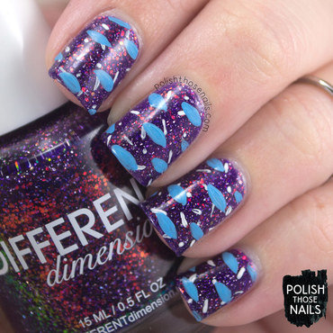 80s Nebula nail art by Marisa  Cavanaugh