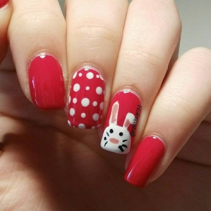 Easter bunny nail art nail art by nailsbyroy