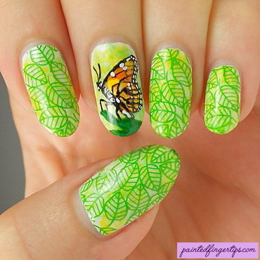 Butterfly nails nail art by Kerry_Fingertips