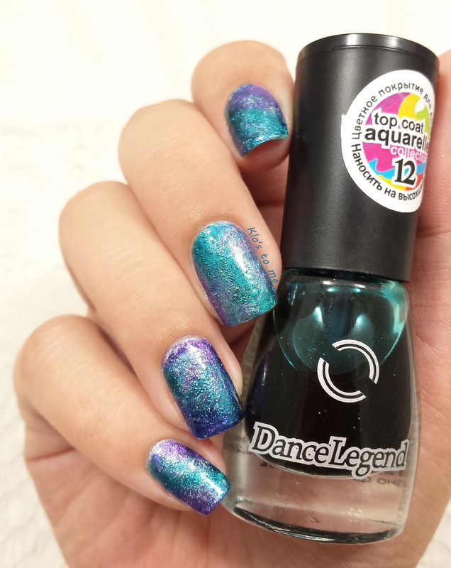 Galaxy Aquarelle nail art by klo-s-to-me