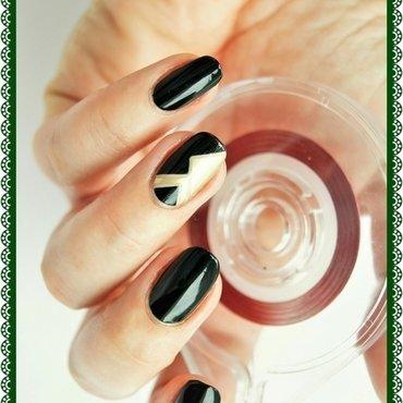 Gloomy green nail art by ELIZA OK-W