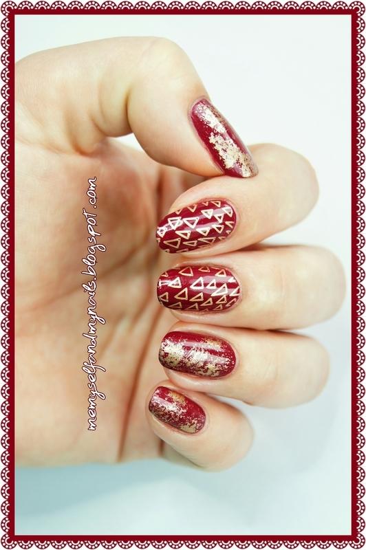 tRIANGLES nail art by ELIZA OK-W