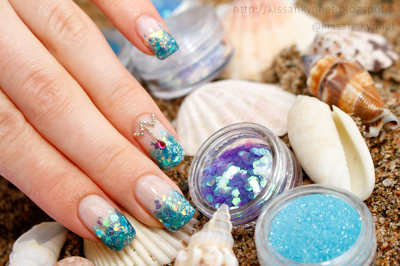 French Mermaid nail art by Yue