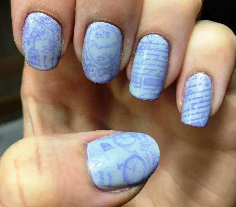 Vintage Provence nail art by Meggy