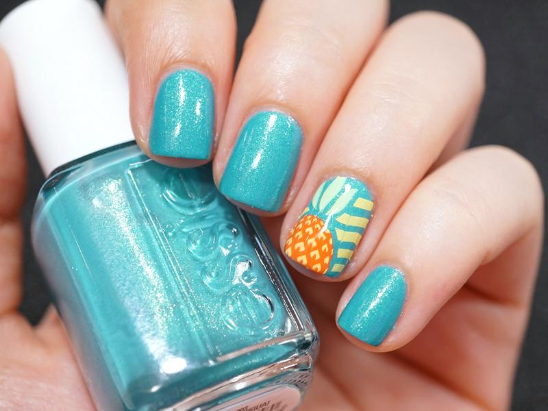 Pineapple nail art by Moriesnailart