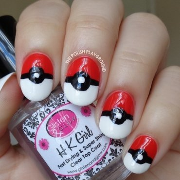 Pokemon Inspired Nail Art nail art by Lisa N