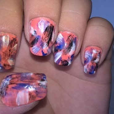 going streaking nail art by Teana Jones