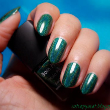 Born Pretty, Holo Polish #12 swatch nail art by notcopyacat