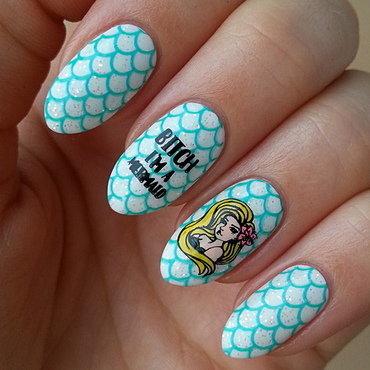 Born Pretty Store Stamping Polish #Green II nail art by Mgielka M