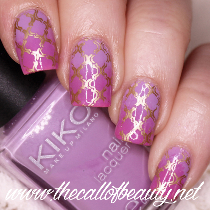 Lilac And Pink Moroccan Nail Art Nail Art By The Call Of Beauty