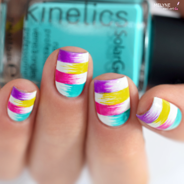 Rainbow Summer Nail Art nail art by melyne nailart