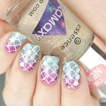 Disney mermaid nails gradient stamping 4 thumb370f
