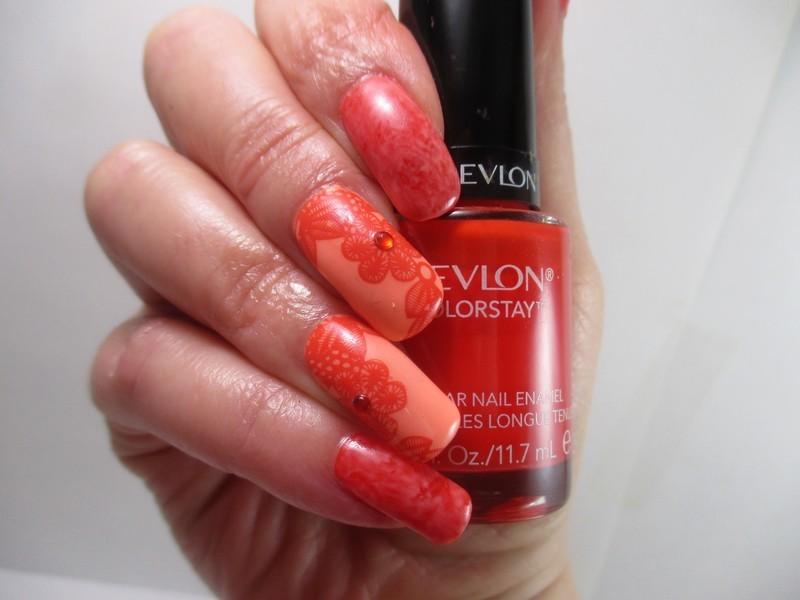 Just Peachy nail art by NinaB