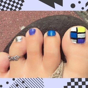 throwback colorblock nail art by Idreaminpolish