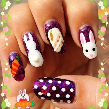i dream of carrot cake nail art by Idreaminpolish