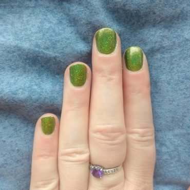 Painted Polish Gaga for greenery Swatch by Stephanie