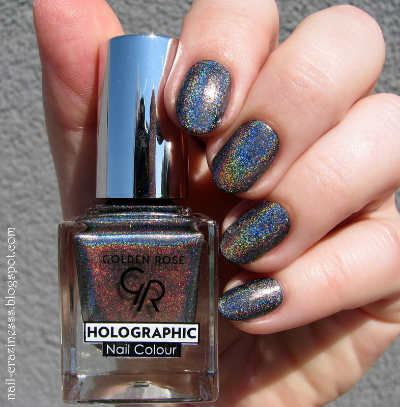 Golden Rose Holographic 07 Swatch By Nail Crazinesss Nailpolis Museum Of Nail Art
