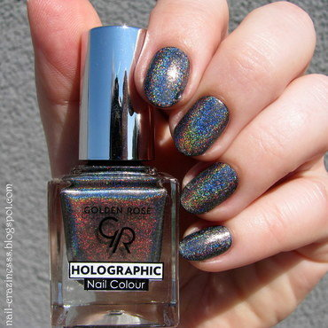 Golden Rose Holographic 07 Swatch by Nail Crazinesss