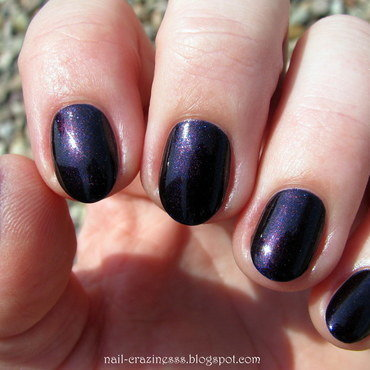 No 7 Galaxy Swatch by Nail Crazinesss