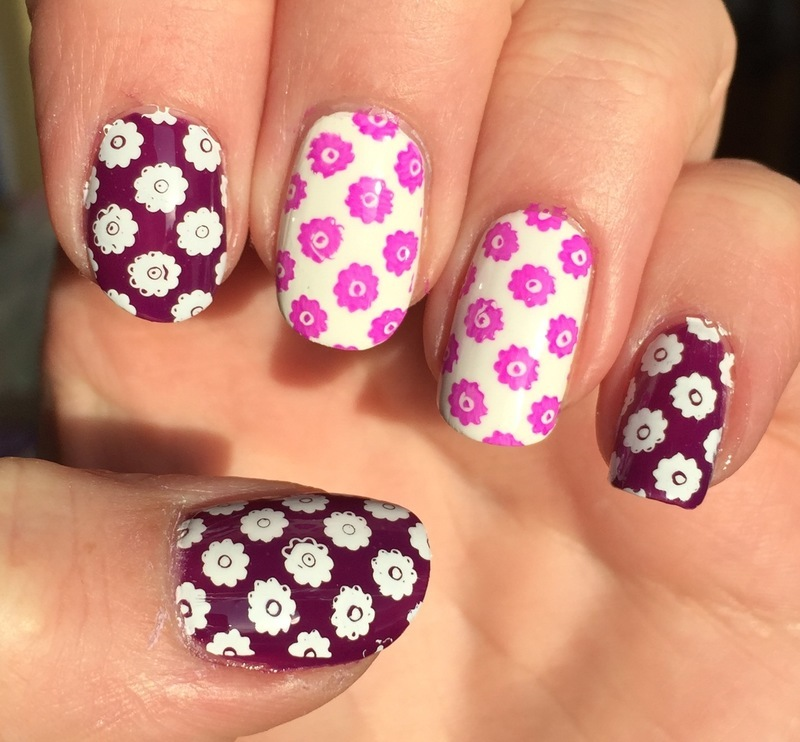 Spring flowers nail art by Meggy