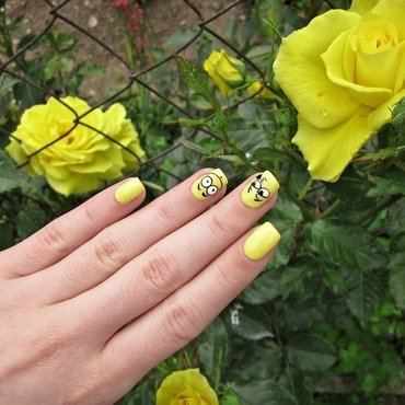 Emoticon nails nail art by Sanela