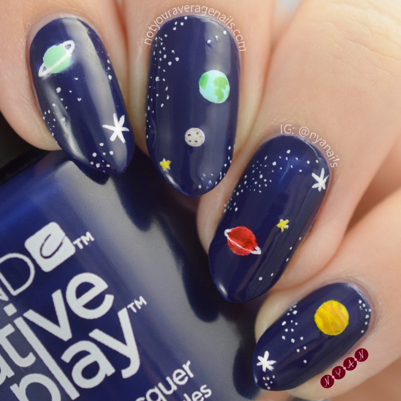 Spaced Out nail art by Becca (nyanails)