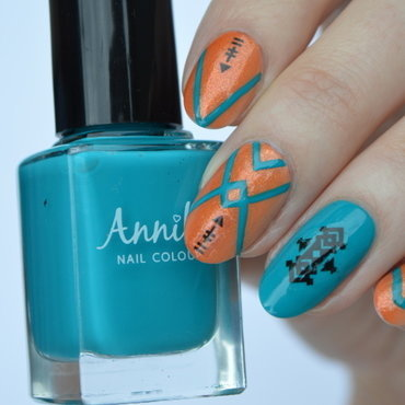 Festival vibe nail art by Furious Filer