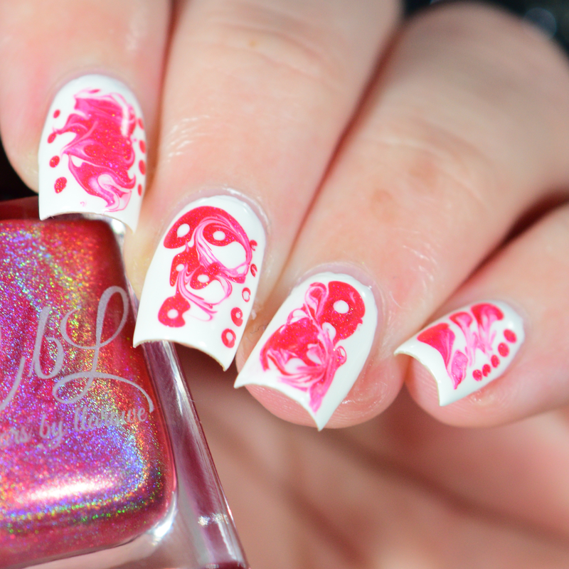 Drag Marble Swirls nail art by Crystal (Seriously Lacqueing ...