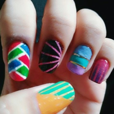 Striping tape nail art designs  nail art by Enaildiaries