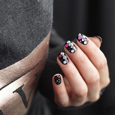 Glitter Placement Nailart nail art by Sabrina