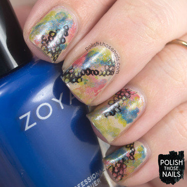 Primary Patterned Paints nail art by Marisa  Cavanaugh