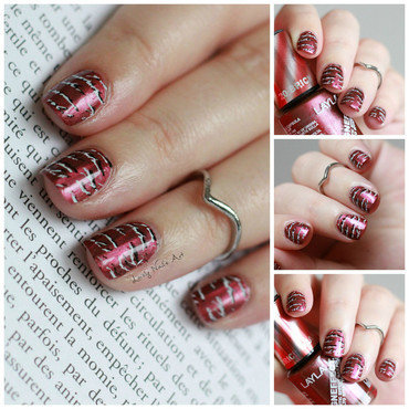 Nail art stamping texte nail art by Lovely Nail's  Art