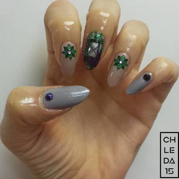 As Time Goes By nail art by chleda15