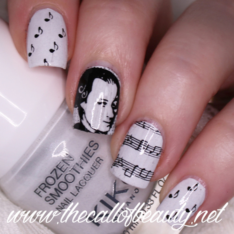 Mozart Nail Art nail art by The Call of Beauty