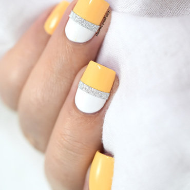 Glitter striping tape yellow color block nail art 20 1  thumb370f