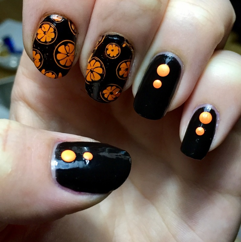 Oranges nail art by Meggy